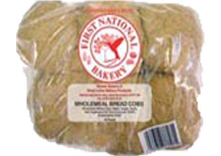 Whole meal Bread Cobs (12 Pack)